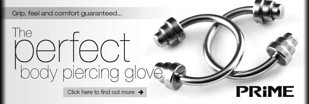 The perfect body piercing glove